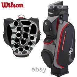 Wilson I Lock III Golf Trolley Cart Bag Black/Grey/Red NEW! 2020 Model