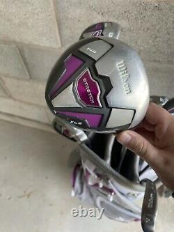Wilson Women's Stretch Golf Club 9-Club Set with Cart Bag